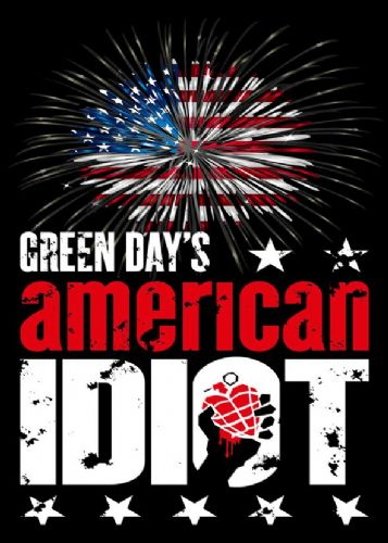 GREEN DAY - AMERICAN IDIOT USA BURST / canvas print - self adhesive poster - photo print